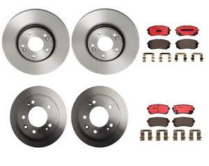 Front-Rear-Full-Brembo-Brake-Kit-Disc-Rotors-Ceramic-Pad-For-Tucson-Sportage-FWD