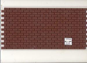 "Brick - Styrene Sheet  1:12 Scale 11""x5.5""  miniature Dollhouse  8206 Houseworks"