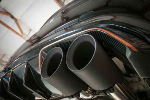 """Pair Auto Exhaust Tip Pipe Double Wall Angle 2.5/"""" Inlet 4/"""" Outlet 5/"""" inch Long"""
