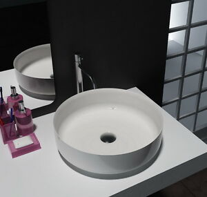Bathroom Round Above Counter Top Basin Stone Solid Surface