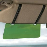 Anti-glare Sun Visor Extension Shield Car Flip Down Straps On Auto Set Of 2