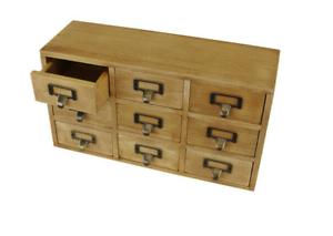 9-Drawer-Triple-Level-Solid-Wood-Storage-Cabinet