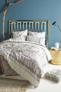 NEW-Anthropologie-Embroidered-Wintertide-Duvet-Only-Cotton-Floral-Queen