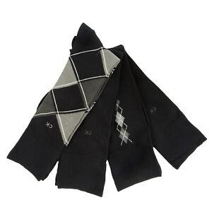 Calvin Klein Men's Assorted 4 Pair Combed Cotton Crew Dress Socks NEW