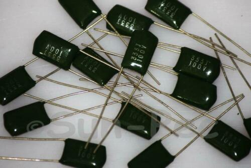1.2nF to 0.39uF Polyester Poly Film Capacitor100V 0.0012uF 390nF choices