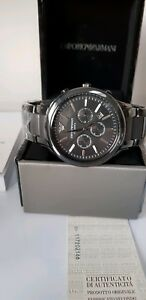 NEW-EMPORIO-ARMANI-MENS-GENUINE-CERMICA-STEEL-WATCH-AR1451-RRP-239