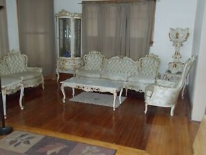 Details about Beautiful Unique Vintage French Provincial Living Room Set  LOCAL PICKUP