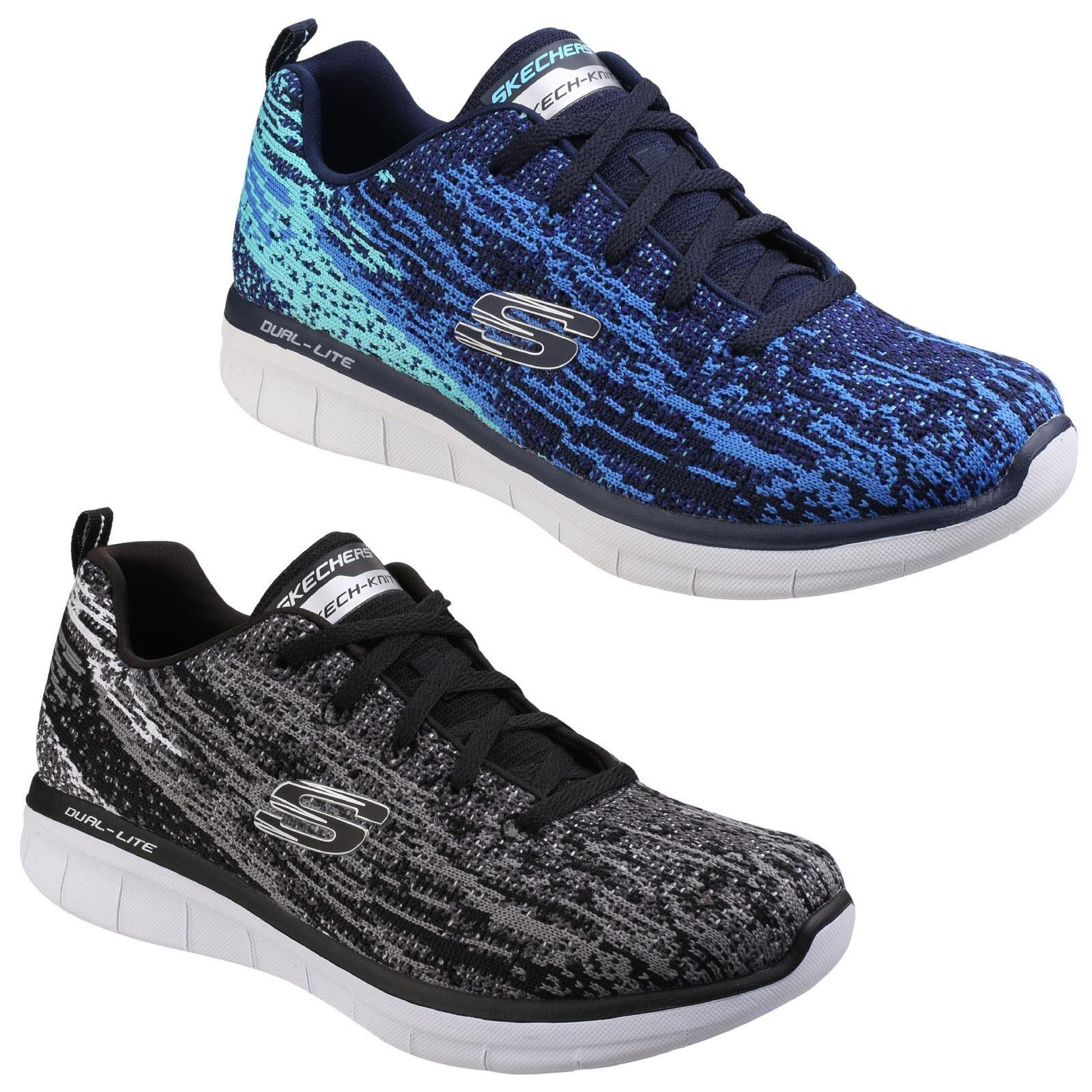 Zapatos promocionales para hombres y mujeres Skechers Synergy 2.0 Alto Espíritu Zapatillas mujer espuma viscoelástica DEPORTE