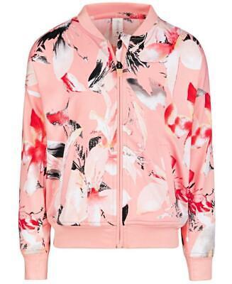 Ideology Big Girls Camo Green Moss Hooded Windbreaker Jacket Size S MSRP $44