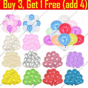 100PCS-HELIUM-Pearlised-Latex-Balloons-10-034-Wedding-Birthday-Party-CHRISTENING