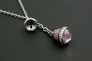 Necklace Elegant Morellato Pendant Bells Zircons Natural Pink And White Sale