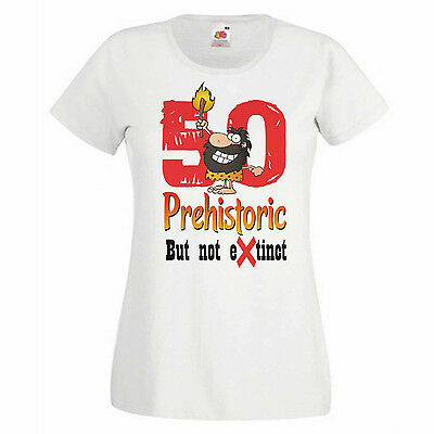 Warning Grumpy Old Git Just Turned 50 Women/'s Graphic 50th Birthday T-shirt