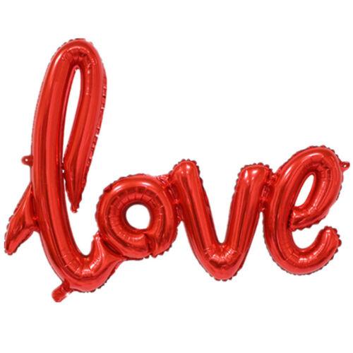 Forma de amor foil globo cumpleaños boda fiesta aniversario decoración helio