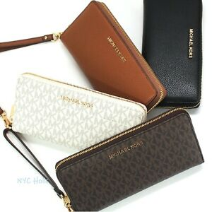 New-Michael-Kors-Large-Travel-Continental-Wallet-Wristlet-Clutch
