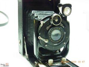 Zeiss-Ikon-Plate-Camera-2-3-8x3-1-2in-Sheet-Film-Lens-Novar-6-3-4-1-8in