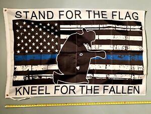 DONALD TRUMP FLAG *FREE SHIP USA SELLER!* Stand For The Flag USA Flag Army 3x5/'