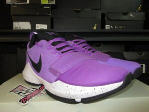 ec0c03536ed SALE NIKE PG 1 PAUL GEORGE BRIGHT VIOLET BLACK 878627 500 NEW PURPLE ...