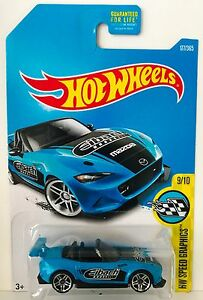 Hot Wheels 2017 Speed Graphics 15 Mazda MX-5 Miata  blau