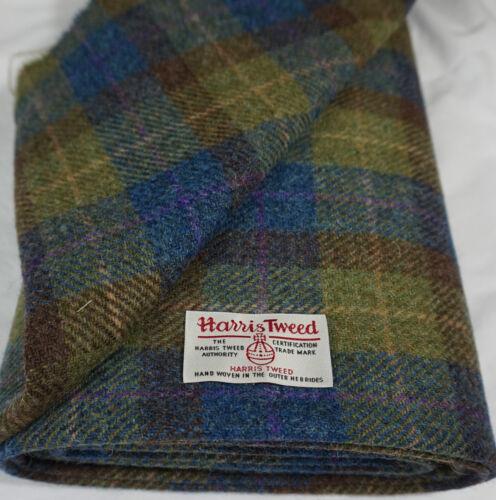 Harris tweed fabric /& étiquettes 100/% laine matériel Craft-différentes tailles code.sep60