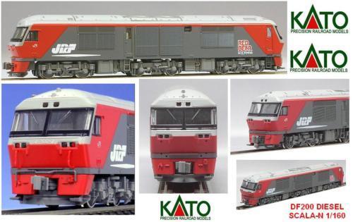 KATO 7007 LOCOMOTORE DIESEL DF200 RED-BEAR RED-BEAR RED-BEAR BOX SCALA-N fc6d76