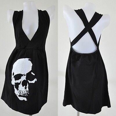 MINI Dress goth punk skull vtg black emo rockabilly XL party BoHo emo sale sexy