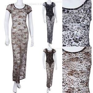Animal print maxi dress ebay