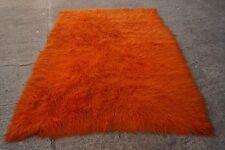 60er Space Age TEPPICH Vintage CARPET orange FLOKATI Panton Ära 70s 160x240 cm
