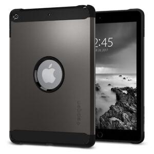 iPad-9-7-034-2018-2017-Spigen-Tough-Armor-Gunmetal-Shockproof-TPU-Case-Cover