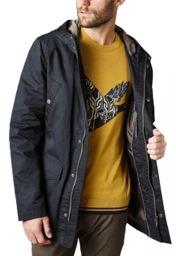 Mens Sherman 4 Jacket Coat Lightweight Cotton Coated Hooded Mac Pocket Ben Lined B5a4xdwB