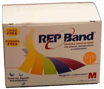 REP BAND 6 YARD ROLL (LEVEL1, PEACH) LATEX-FREE RESISTANCE BANDS 18 FEET FLAT