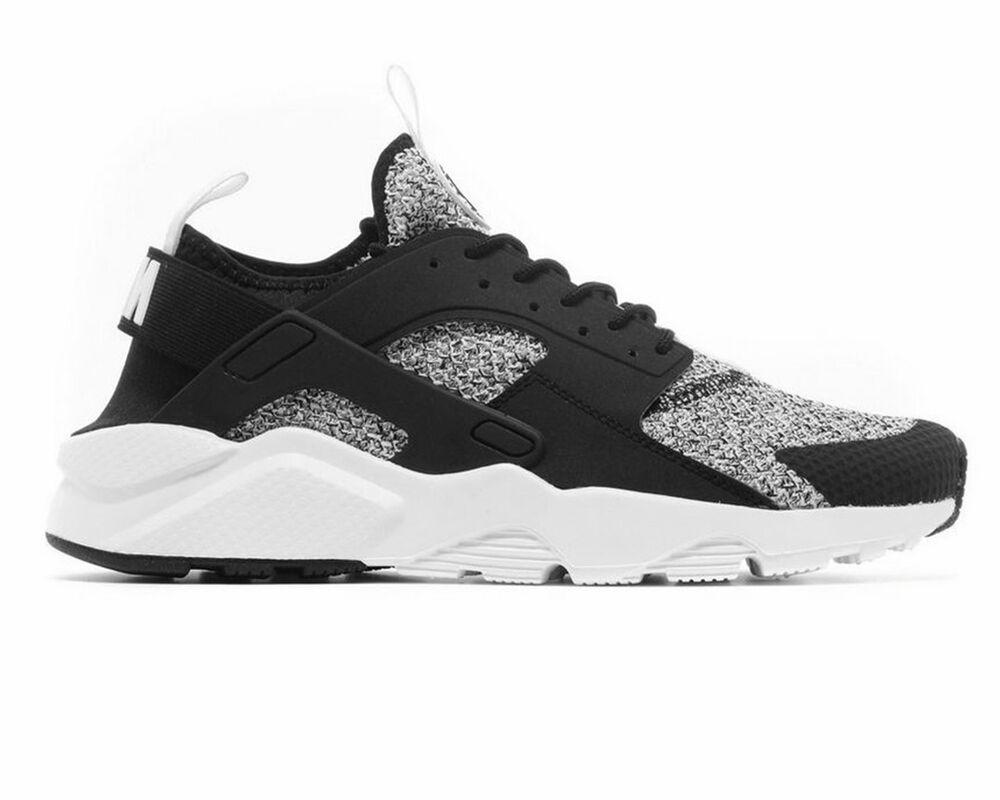new concept 7ab05 f8db0 Nike Air Huarache Run Ultra Ultra Ultra SE 875841 010 Baskets Homme Noir Blanc  Chaussures De