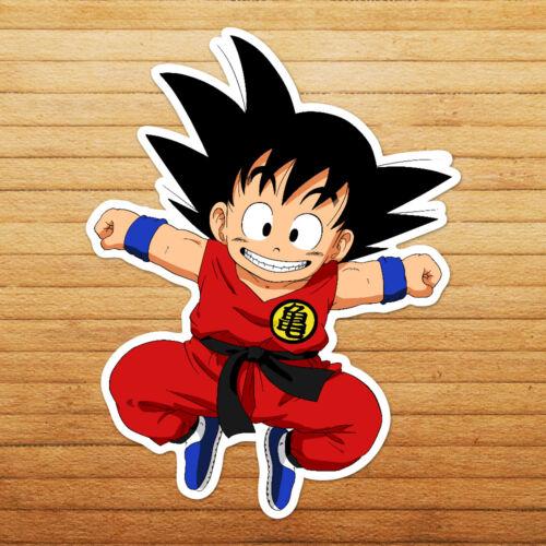 Dragon Excited Young Kid Goku Die Cut Wall Car Window Decal Bumper Sticker