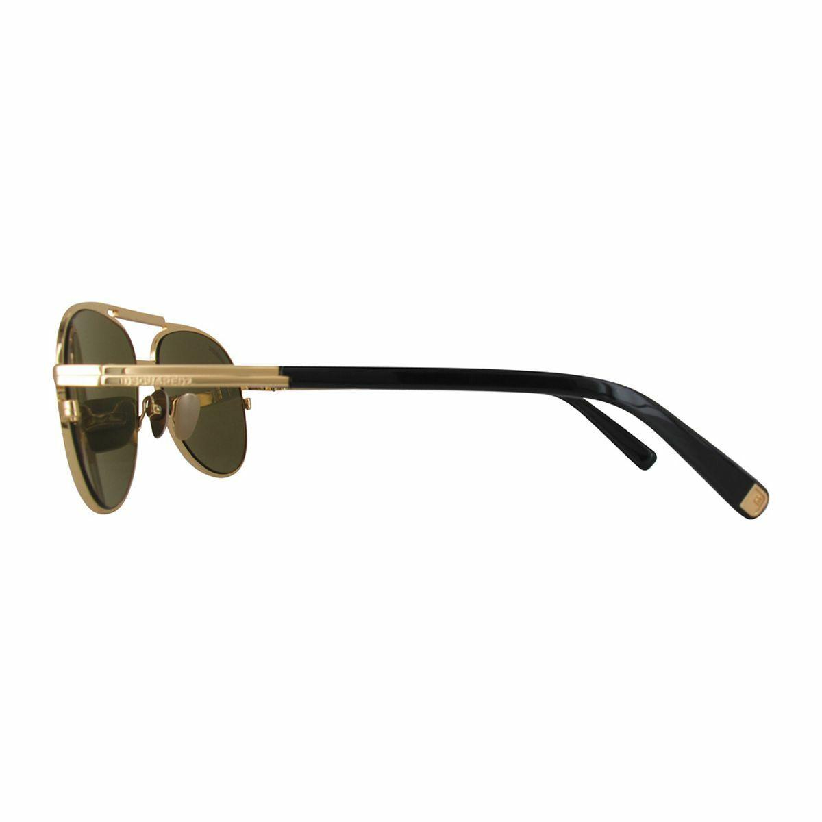 Dsquared2 Women's Sunglasses DQ0280-30N-57 Shiny Endura Gold/Green