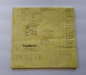Máquina de Pinball gottlieb Pioneer esquemático el diagrama de cableado 1976 juego de Aleta