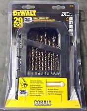 "DEWALT DW1269 29pc (1/16""-1/2"") Cobalt Drill Bit Set"