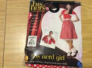 c82aafe869f9 Rubies 50s Nerd Girl, Red/White, Size Large Dress and Belt Costume ...