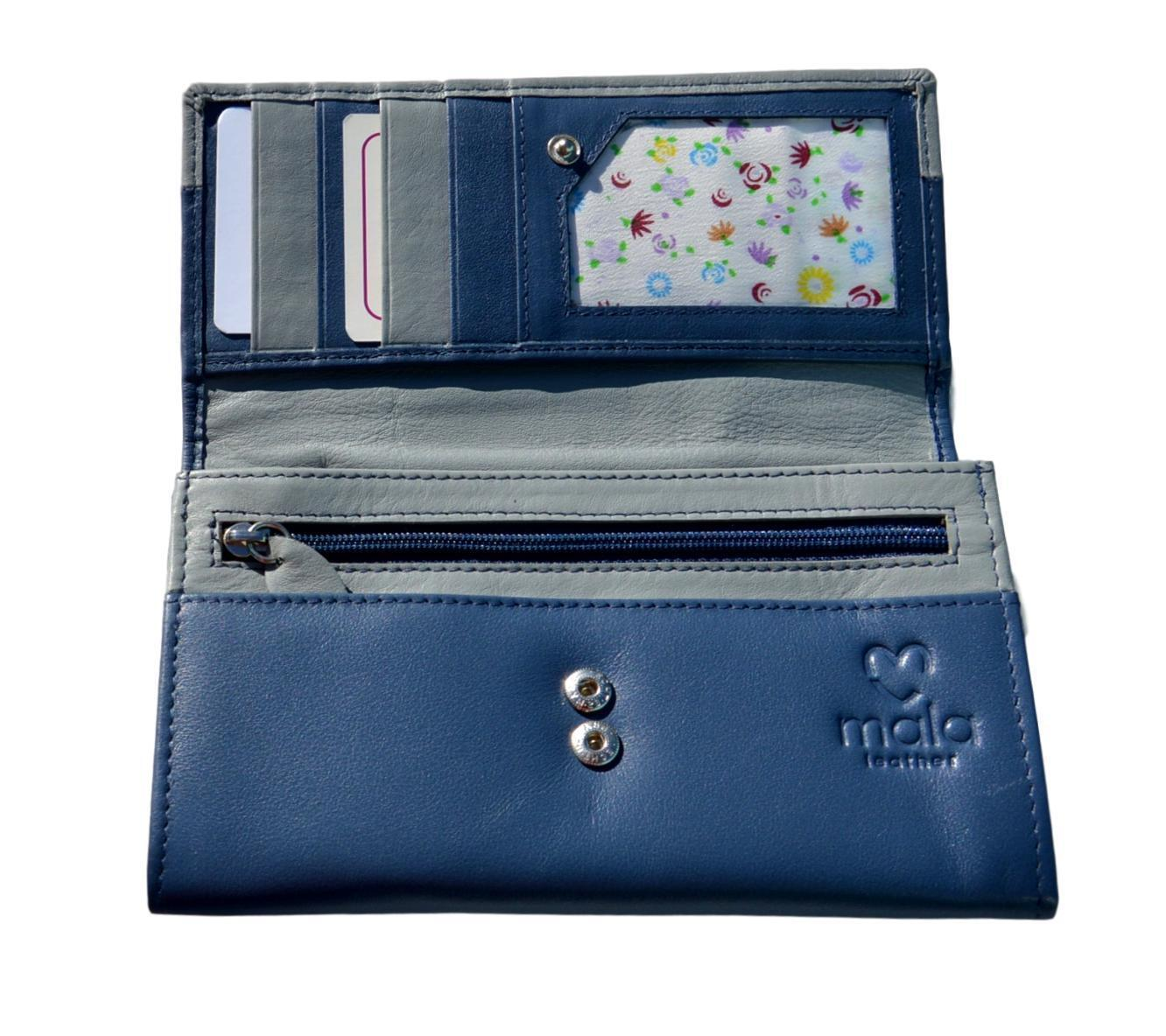 953f51e3855 Mala Leather Cats on Wall Flap Over Navy Blue Purse With Dustbag ...