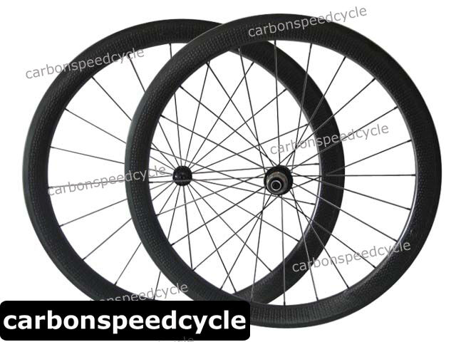 CSC 25mm Wide Dimple Finish Carbon Road Wheels  50mm Clincher Ceramic Hub Light