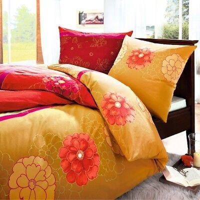 Sinnvoll Bettbezug Bettwäsche 135x200 Und 80x80 Cm Baumwolle Dormisette Luna Korall Modische Muster Bettwaren, -wäsche & Matratzen Bettwäsche