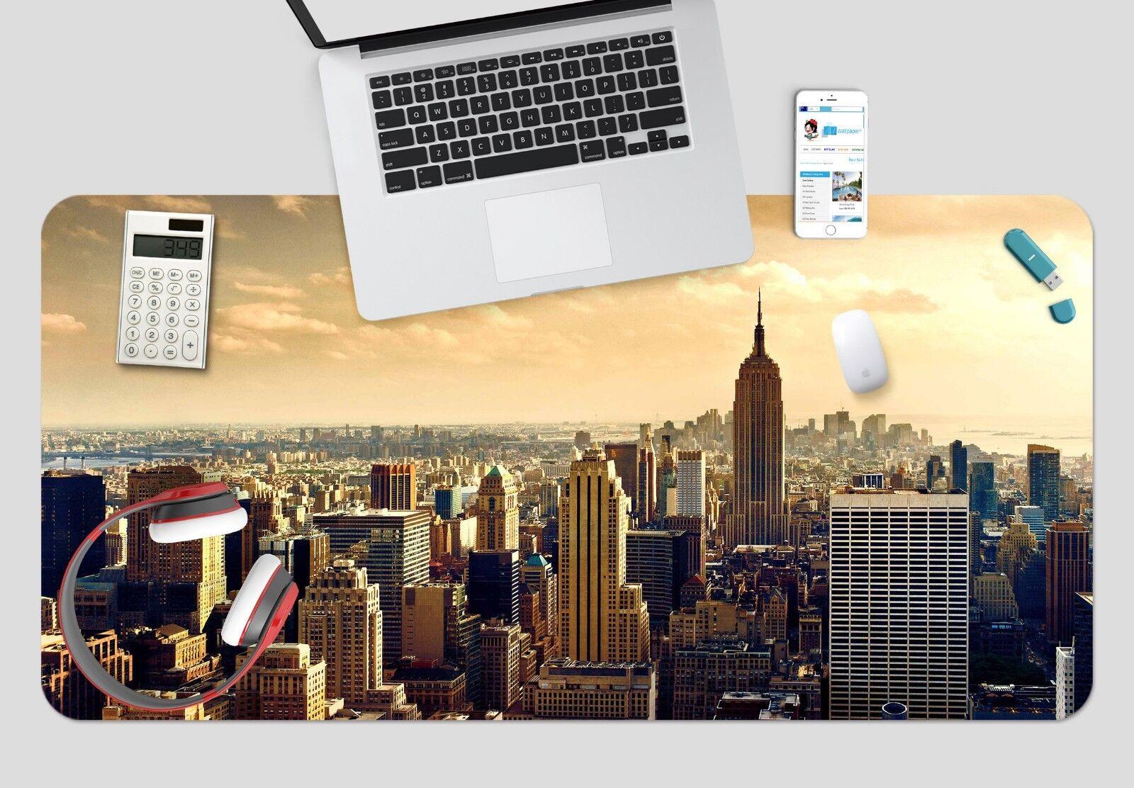 3D Stadt New York 433 Rutschfest Büro Schreibtisch Schreibtisch Schreibtisch Mauspad Tastatur Spiel e136a0