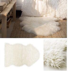 Ikea tejn alfombra de piel de oveja sint tica super suave c lido acogedor podr a ser drapeado - Alfombra oveja ...