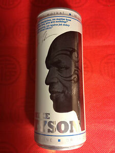 MIKE TYSON - BLACK ENERGY CAN - 250ml EMPTY (WHITE) - POLAND 2014 - Gdynia, Polska - MIKE TYSON - BLACK ENERGY CAN - 250ml EMPTY (WHITE) - POLAND 2014 - Gdynia, Polska