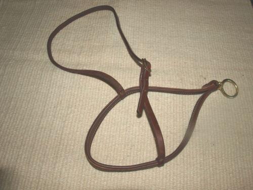 Harness leather roper noseband western OILED Custom quality cowboy tack USA H900