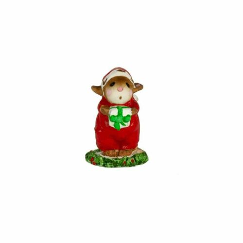 Wee Forest Folk Christmas M-033m Mini Chris-Mouse