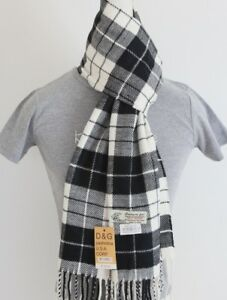 DG Men/'s Winter Scarf stripe White Black,Cashmere Feel,Warm Soft*Unisex