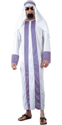 Arab Sheik Mens Arabian Nights National Dress Fancy Dress Adult Costume Outfit