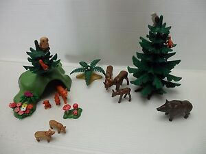 Playmobil-Animaux-de-la-foret-sapin-comme-neuf