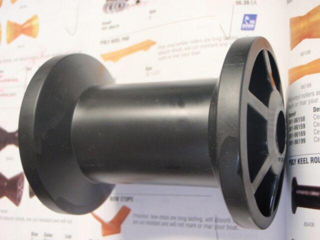 New Tiedown Engineering Marine Keel Roller 4In Spool Type Black Tie 86406