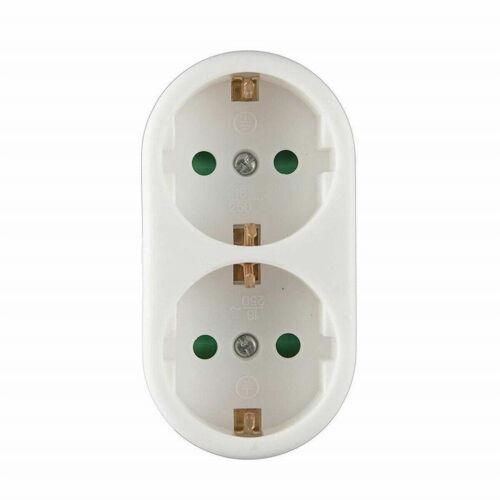 Doppelstecker 4-fach Steckdosen Adapter Mehrfachstecker Steckdosenverteiler D