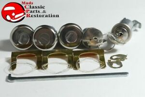 65-Impala-Fullsize-Locks-Ignition-Door-Glovebox-Trunk-Original-GM-Chevy-Keys
